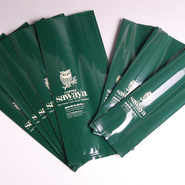 コーヒー豆の包装